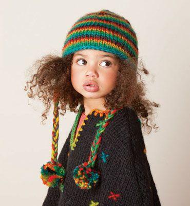 Doll Modèle bonnet péruvien fille Catalogue phildar pitchoun N° 95