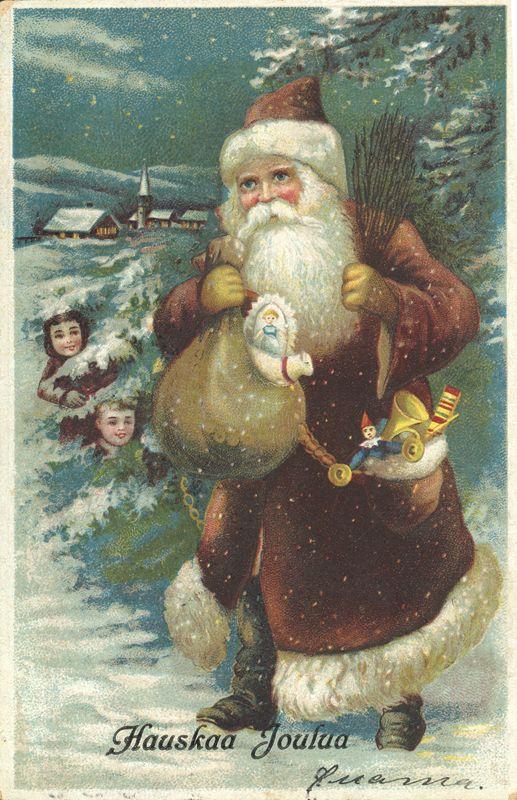 Joulukortti vuodelta 1923.