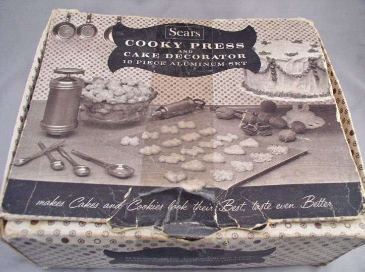 Vintage 1950s Sears COOKY PRESS Cake Decorator in Box with Accessories - Never Used by SMNantiques on Etsy