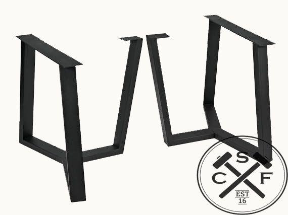 Steel table base legs