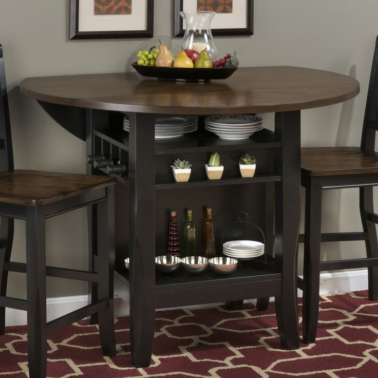 Shop Jofran  Braden Birch Round Dropleaf Storage Dining Table at ATG Stores. Browse our dining tables, all with free shipping and best price guaranteed.