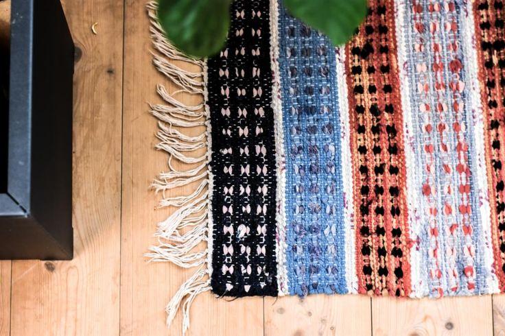 Swedish vintage rag rug 0732 - Rugs of Sweden