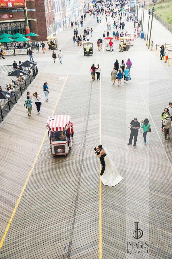 Boardwalk and Beach of the Bride and Groom! Atlantic City Wedding at One Atlantic, Photography by Images by Berit: NYC Wedding Photographer | NJ Wedding Photographer | Jersey Shore Wedding Photographer @oneatlantic