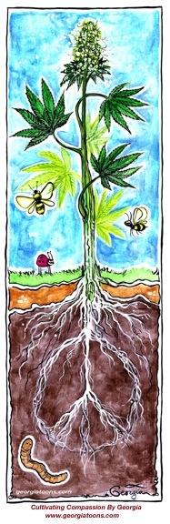 Cannabis art to inspire - PEACE