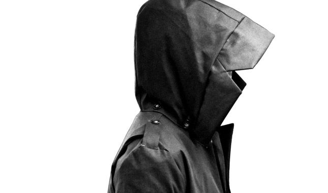 Hood.  first menswear collection from Kevin Lancelin Fall/Winter 2014