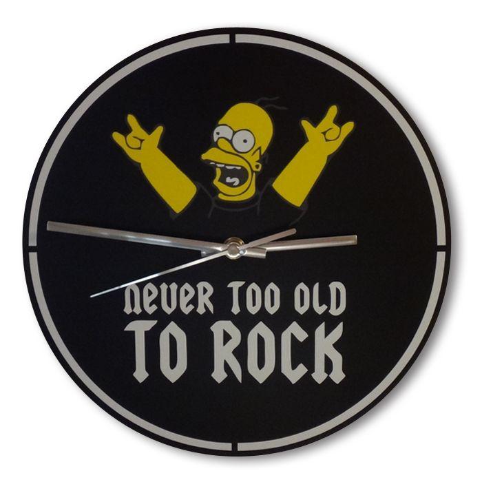 Часы настенные - Never too old to rock