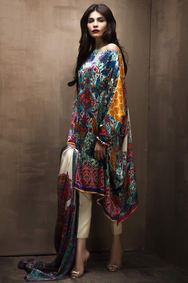 2015 Sana Safinaz Dresses Collection Images