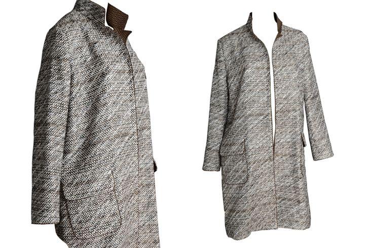 C.38 Raffia, cotton and silk unlined coat.