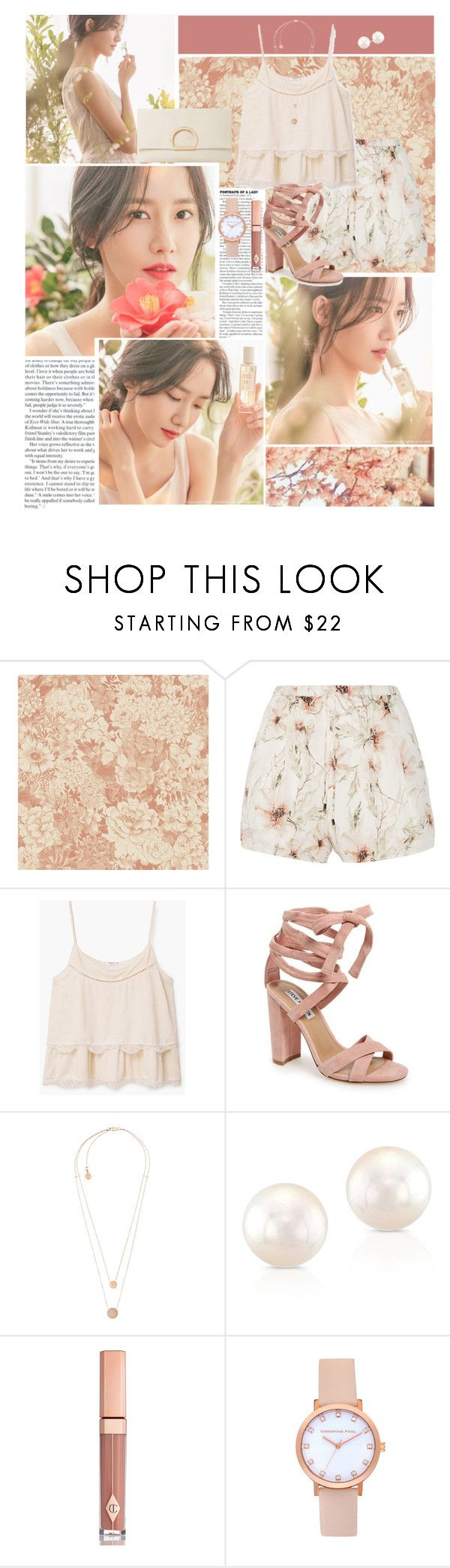 """I would like to meet you, even in a dream"" by angiielf ❤ liked on Polyvore featuring Innisfree, Haute Hippie, MANGO, Steve Madden, Michael Kors, Anne Sisteron, Charlotte Tilbury, Dune, kpop and Snsd"