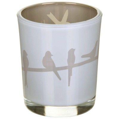 Birds Reflective Tealight Holder - Grey - Amour Decor - 1