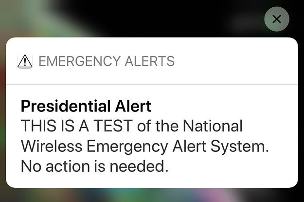 Trump Just Sent His First Presidential Alert To Your Phone Heres What Happened Federal Emergency Management Agency Emergency Management Emergency Alert System