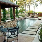 Dry Stack - Custom Swimming Pool - North Richland Hills, TX - Rustic - Pool - dallas - by One Specialty Landscape Design, Pools & Hardscape
