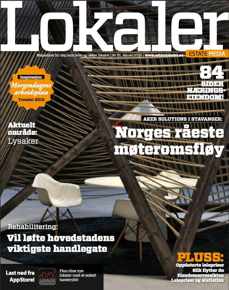 Cover of magazine in Norway - Project: Aker Solutions office in Stavanger