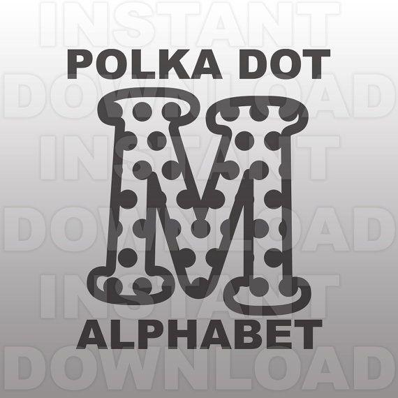 Polka Dot Font SVG,Polka Dot Letter SVG,Monogram SVG ...
