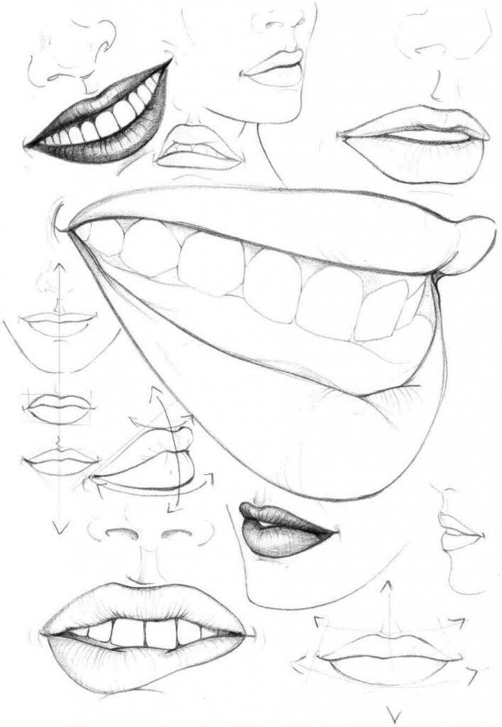 Учимся рисовать fashion-эскиз. Урок 5. Рот