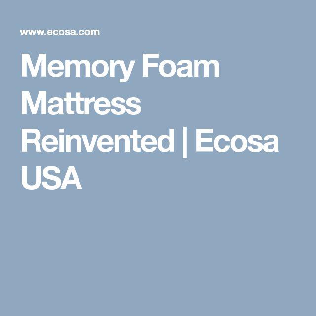 Memory Foam Mattress Reinvented | Ecosa USA