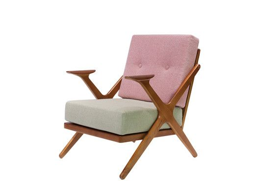 RMC Chair: another great addition to our collection of retro chairs! Timber frame, with cushioned seats, this one has a cute shade of pink and mint green if you're after something elegant