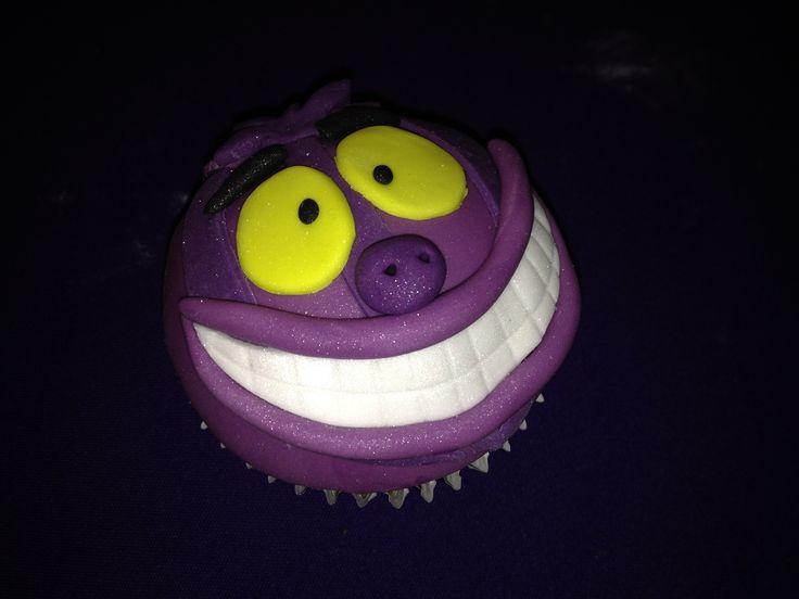 Cheshire Cat Cupcake