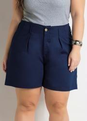 Short Amplo (Marinho) Plus Size