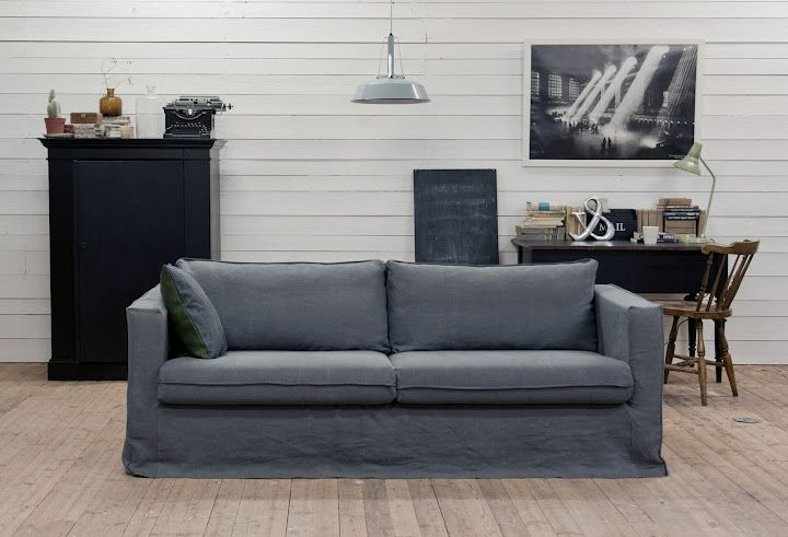 Karlstad 3 seater sofa cover loose fit urban models for Canape klippan ikea
