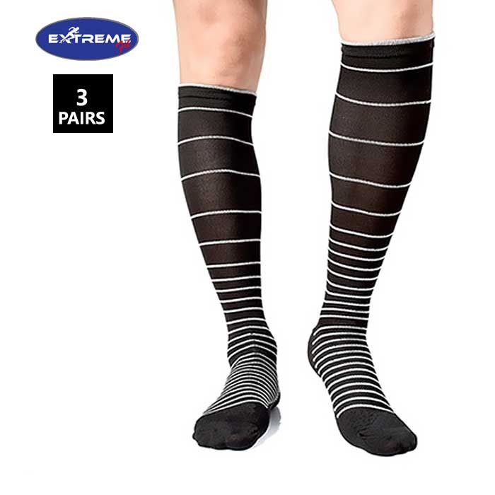 Extreme Fit ® 3-Pairs Unisex Stress Relief Compression Socks
