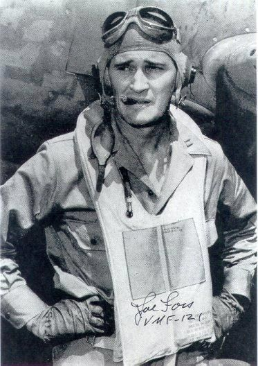 Medal of Honor Winner Joe Foss - Honored for his exploits as a Marine fighter ace at Guadalcanal in WW II.