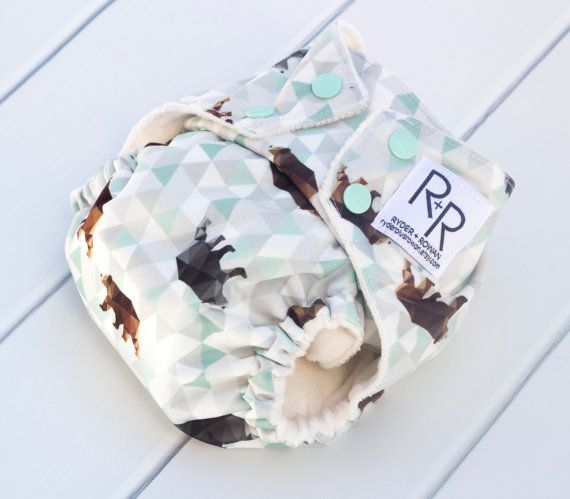 Aztec Bears Pocket Diaper AIO AI2 or Diaper Cover with