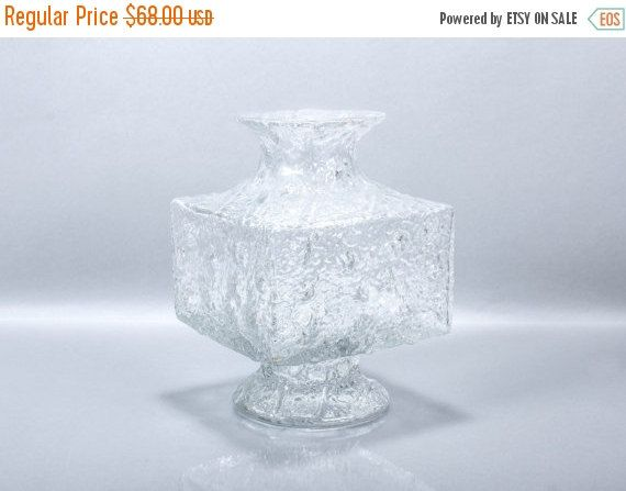 FALL SALE Large Vintage Iittala Finland Crassus Vase by ThePapers