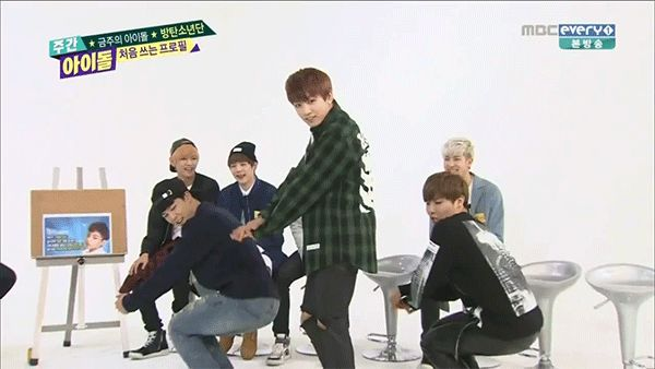 bts dancing gif | they already danced to aoa tho but it s miniskirt and minus the short ...