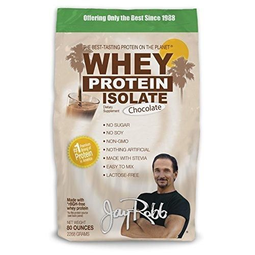 Jay Robb - Grass-Fed Whey Protein Isolate Powder Outrageously Delicious Chocolate 76 Servings (80 oz)