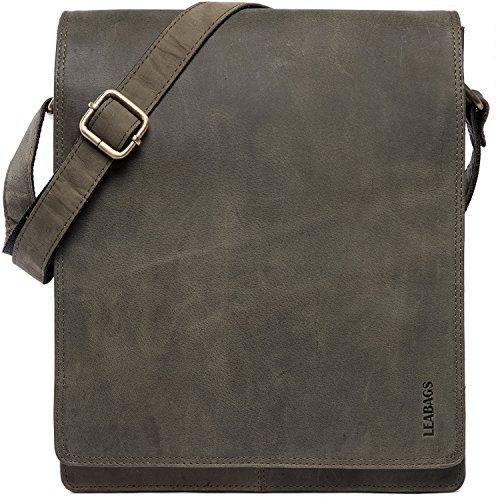 Oferta: 169.95€ Dto: -54%. Comprar Ofertas de LEABAGS London bolso bandolera de auténtico cuero búfalo en el estilo vintage - OlivaVerde barato. ¡Mira las ofertas!