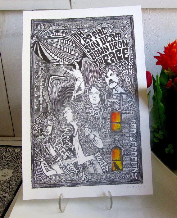 Led Zeppelin Poster Physical Graffiti