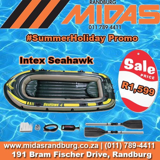 #Randburg #MIDAS #SummerHoliday #Promo: #Inflatable Seahawk 4 #fishing & #fun #boat @ R1,599  http://bit.ly/1ThYe7b