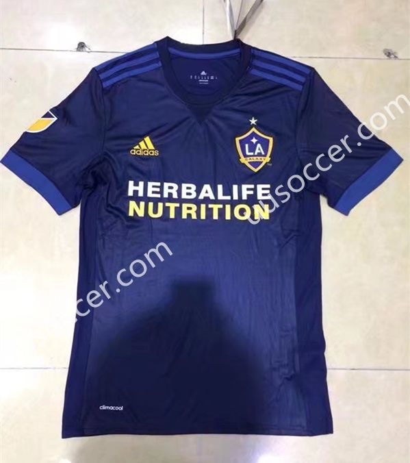 Correct Version 2017-18 Los Angeles Galaxy Away Blue Thailand Soccer Jersey AAA