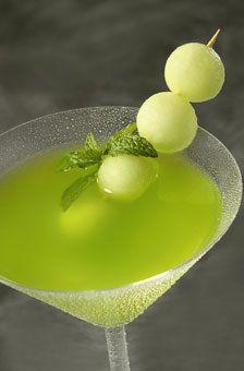 Honeydew Melon Ball Drop Martini