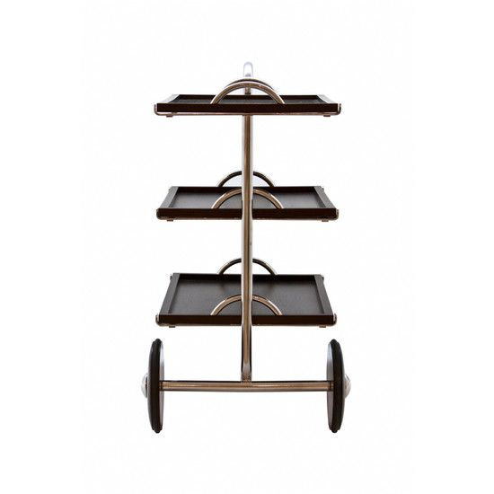 """The """"GW"""" tea trolley, a signature piece of revolutionary Brazilian modern designer Gregori Warchavchik, brings a touch of refinement to an office, den, or living room. Available at ESPASSO."""