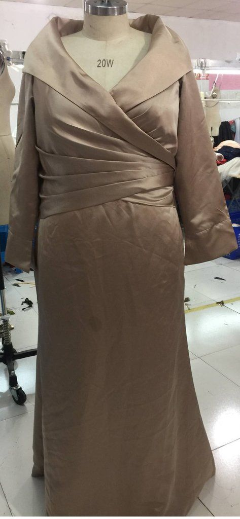Gold plus size mother of the bride evening gowns from Darius Dresses