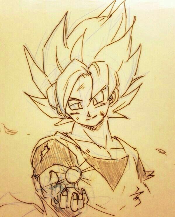 Son Goku Dibujo De Goku Dibujos Como Dibujar A Goku