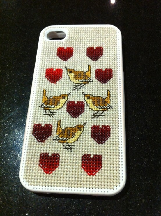 A Cross-Stitch iPhone Case - With Wren's