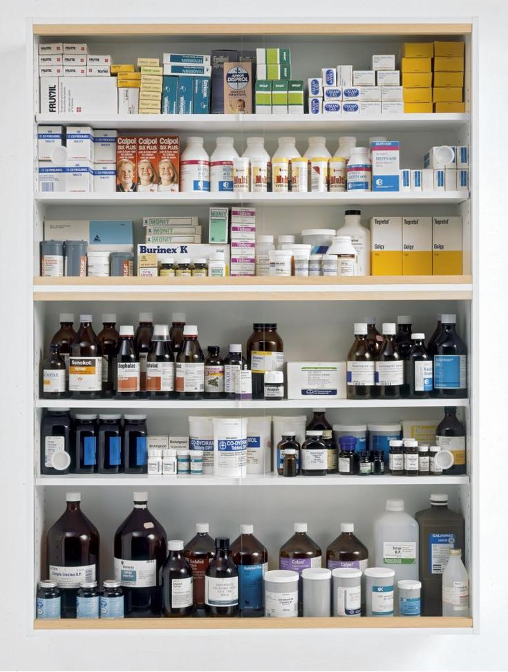 DAMIEN HIRST | NO FEELINGS - [GLASS FACED PARTICLEBOARD, RAMIN, PLASTIC, ALUMINIUM & PHARMACEUTICAL PACKAGING]