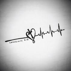 Image result for heart pulse rate cross tattoos