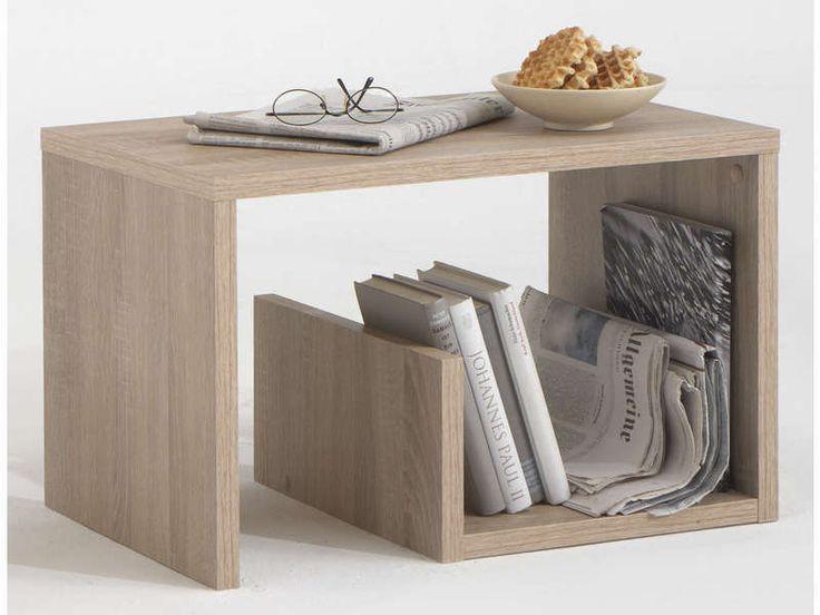Table basse MIKE coloris chêne clair - Vente de Table basse et bout de canapé - Conforama