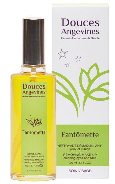 Fantômette fluide nettoyant démaquillant Bio ultra doux yeux et visage, tous types de peaux - Douces Angevines cosmétiques