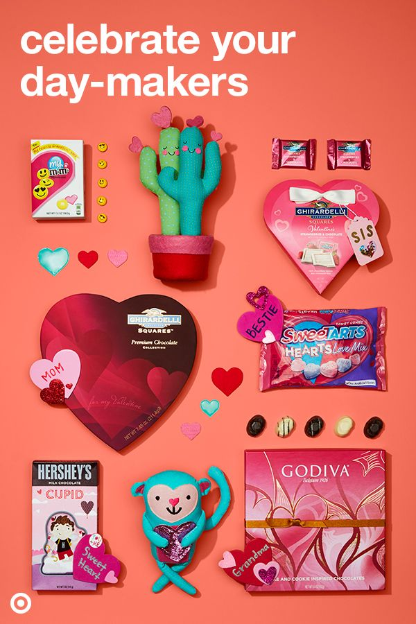 This Valentine's Day, find gifts and candy for everyone from your pet, friends, coworkers, Mom, Grandma and more.