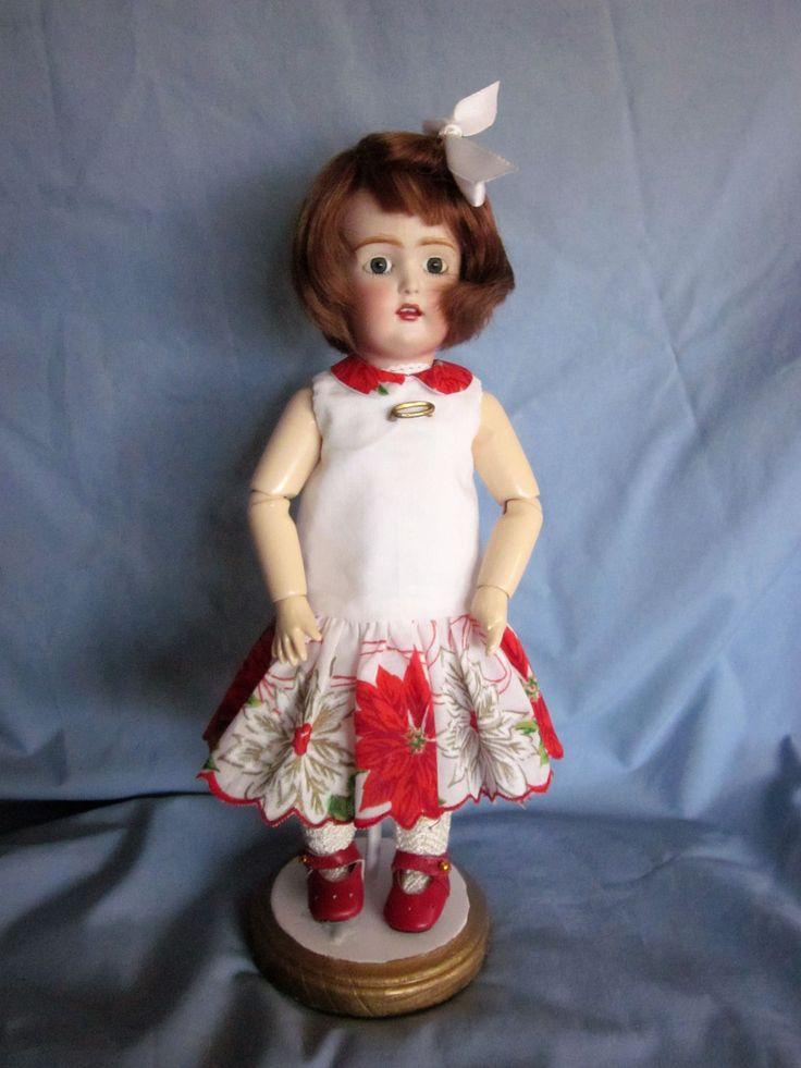 Vintage Hankie Christmas Dress for Bleuette Doll | eBay