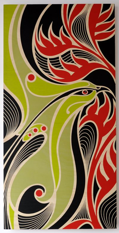 Shane Hansen Kura Gallery Maori Art Design New Zealand Te Kopara Topa Screen Print on Hoop Pine Plywood