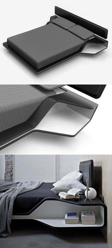 French designer Ito Morabito's Ora-Ito Ayrton ... a bed inspired by the F1 driver. / #furniture #FredericClad #THEFARM