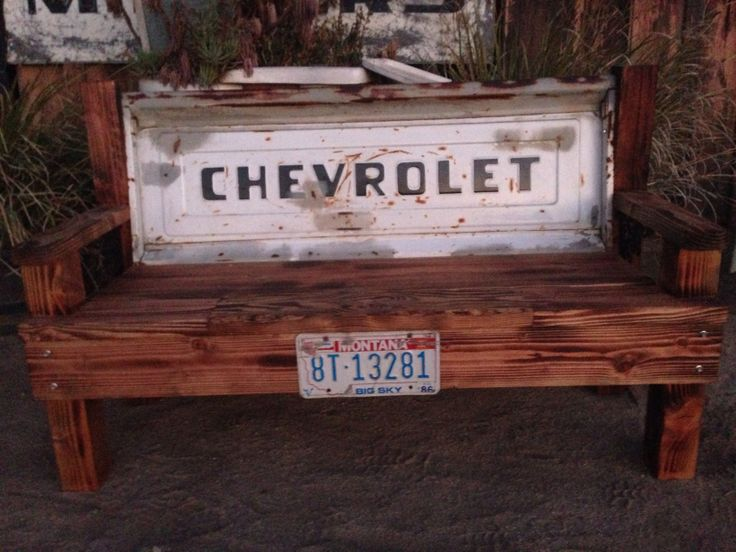 Chevy tailgate bench by ROCK'N A FURNITURE Bobbie Ashley
