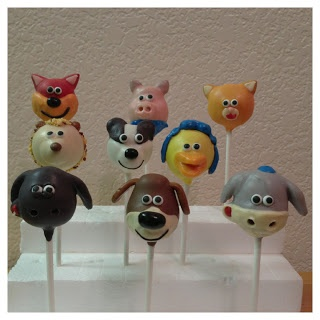timmy time cake pops