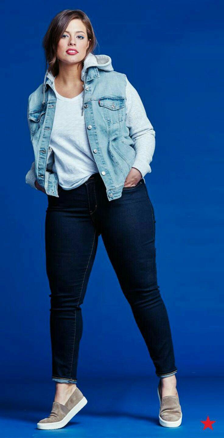 Moda Plus-size - Jaqueta Jeans